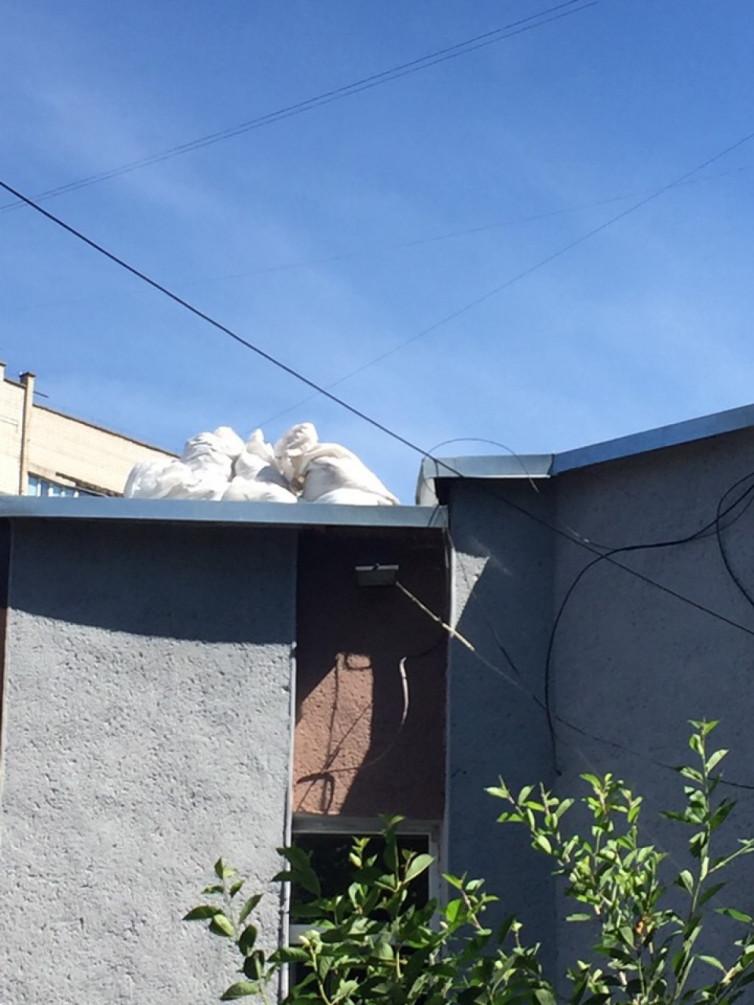Винничанка превратила крышу библиотеки на свалку (фото), фото-2