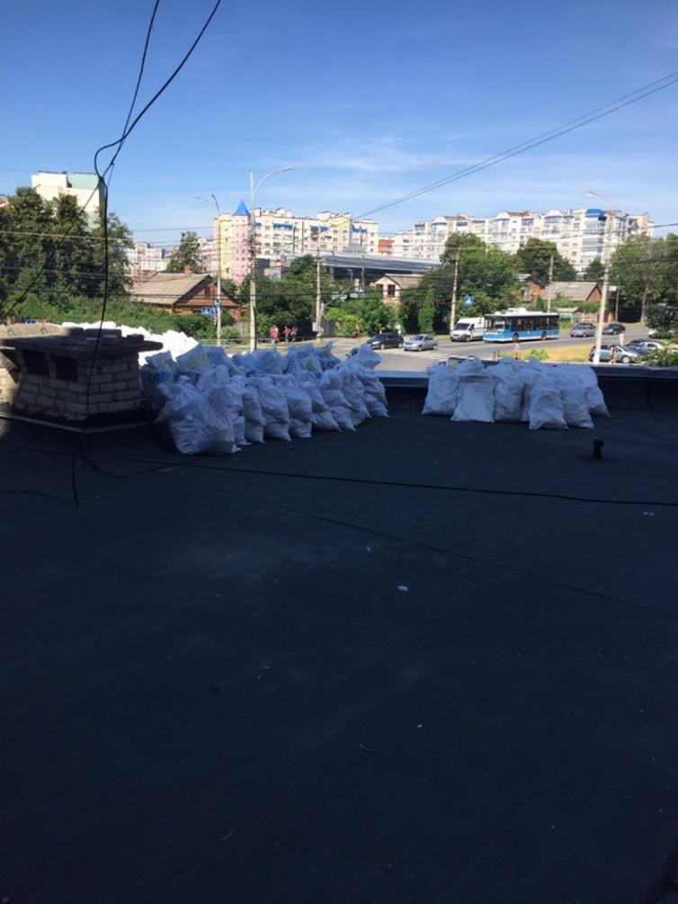 Винничанка превратила крышу библиотеки на свалку (фото), фото-3