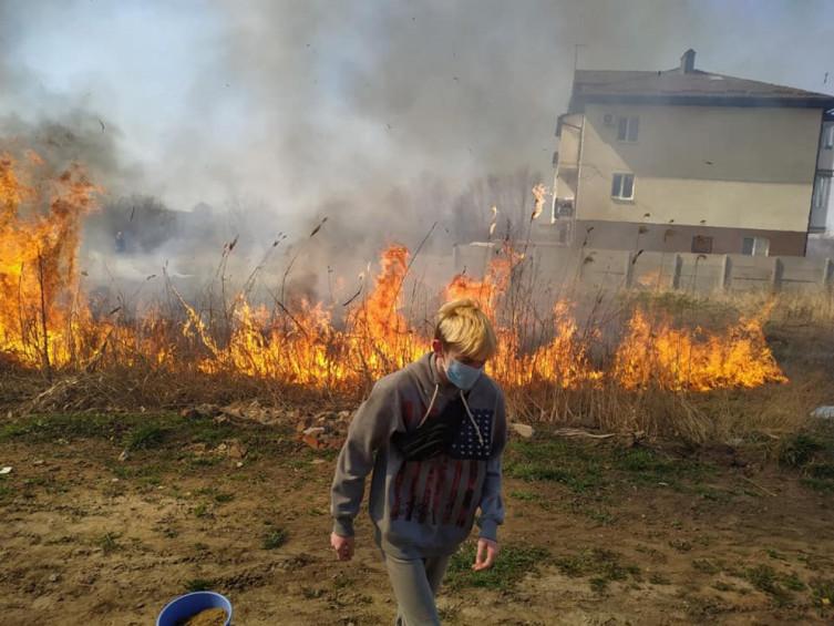 В Виннице возле Вишенского озера произошел масштабный пожар (фото), фото-2